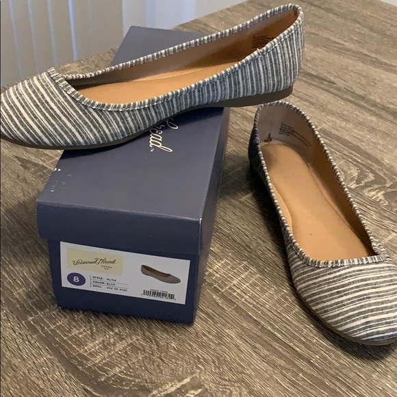 Shoes - Striped Flats